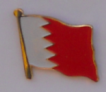 Bahrain Country Flag Enamel Pin Badge